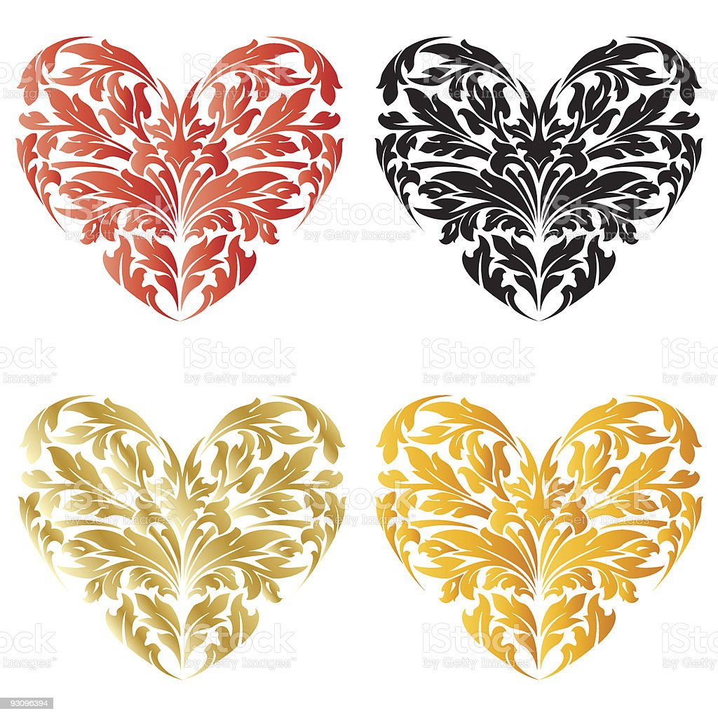 Stylized Valentine's Day Heart royalty-free stylized valentines day heart stock vector art & more images of black color