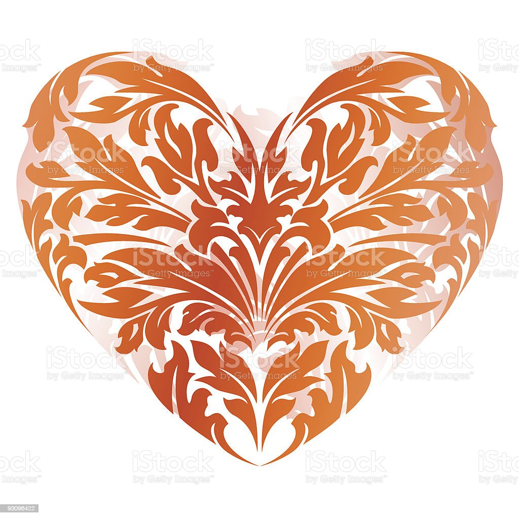 Stylized Valentine's Day Heart royalty-free stylized valentines day heart stock vector art & more images of art