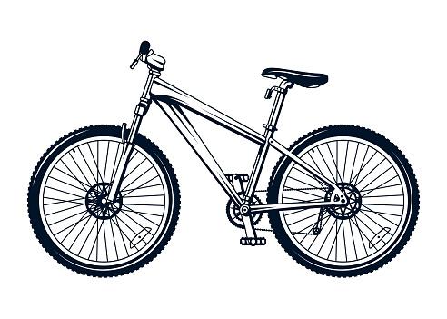 Stylized Vector Mountain Bike