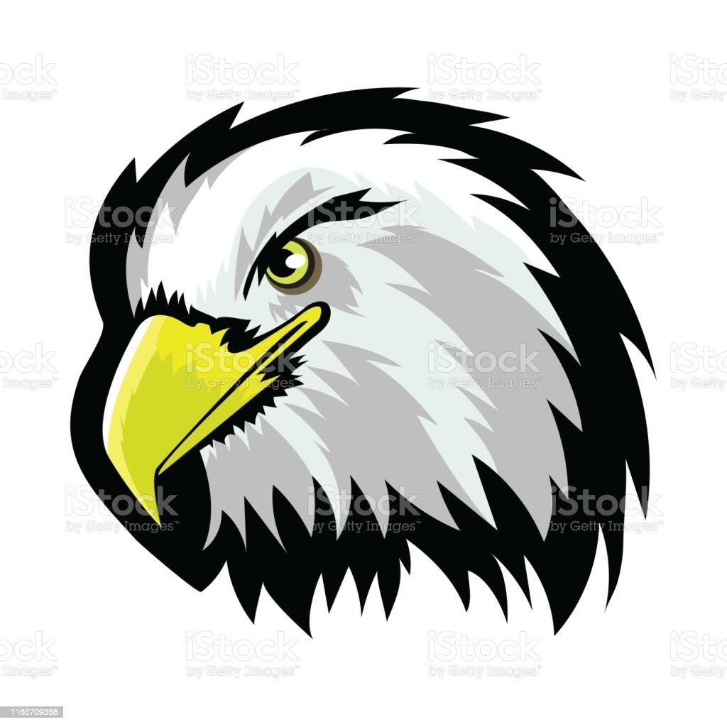 Stylized White American North Bald Eagle Head Tattoo Design Logo Prey Bird Isolated On White Background Predator Hawk Mascot Symbol Of Freedom Stock Illustration Download Image Now Istock