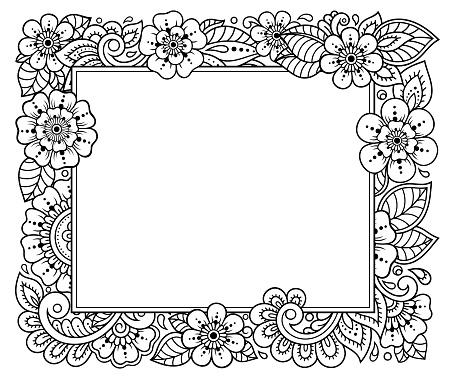 Stylise Avec Des Tatouages Au Henne Motif Decoratif Pour La Decoration Des Couvertures Pour Livre Carnet