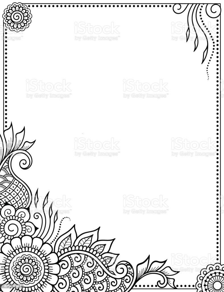 Ilustración De Estilizado Con El Patrón Decorativo De