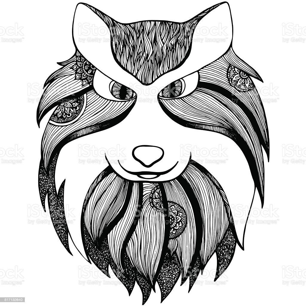 Стилизованные Волк к стрессраскраска для взрослых ...
