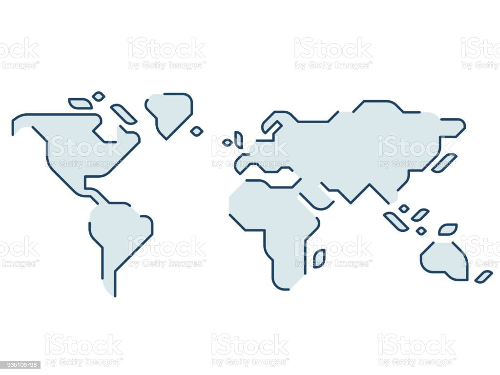 Stylized world map royalty-free stylized world map stock illustration - download image now