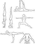 Stylized yoga illustrations - Standing 5