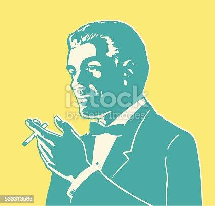 Hombre fino para fumadores
