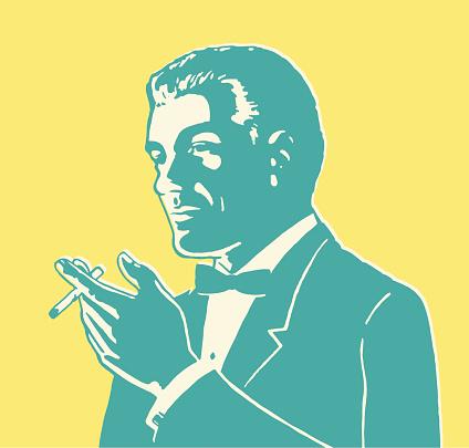 Suave Man Smoking