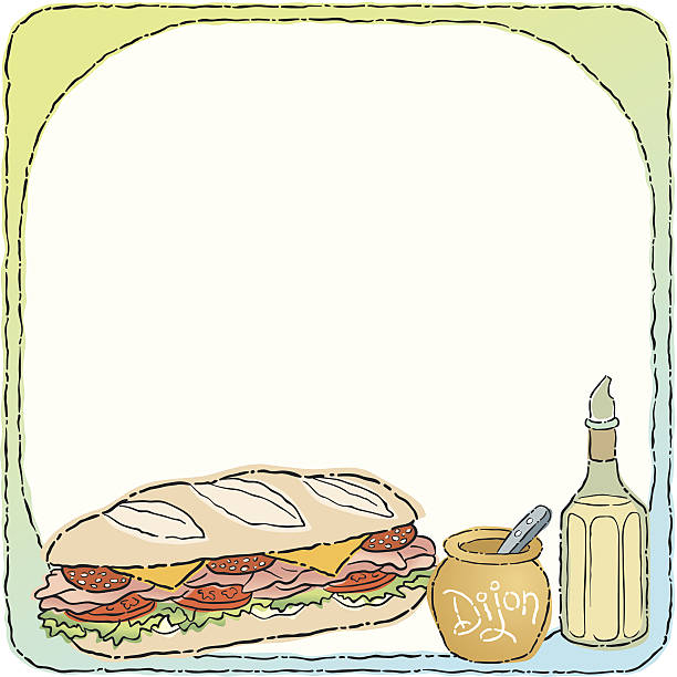 sub sandwich mortice c - sub sandwich stock illustrations, clip art, cartoons, & icons