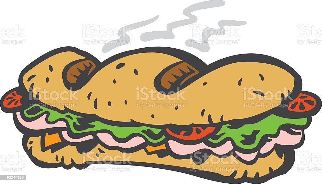 royalty free sub sandwich clip art vector images illustrations rh istockphoto com Sub Sandwich Shops sub sandwich vector clipart