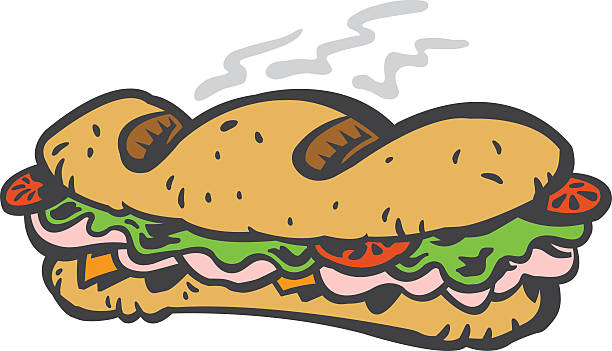 sub sandwich - sub sandwich stock illustrations, clip art, cartoons, & icons