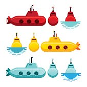 Submarine Cartoon Style