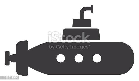 Vector of Submarine Icon