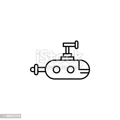 submarine, robot outline icon. Signs and symbols can be used for web, logo, mobile app, UI, UX on white background