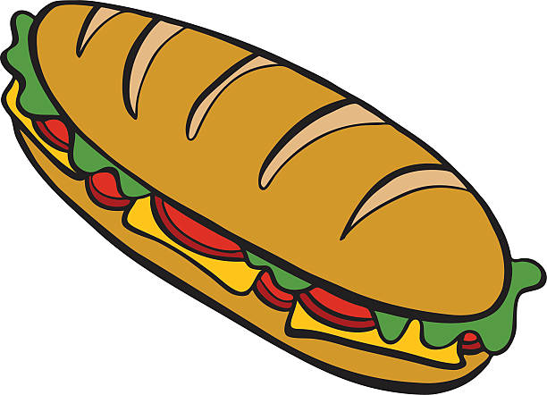 submarine sandwich - sub sandwich stock illustrations, clip art, cartoons, & icons