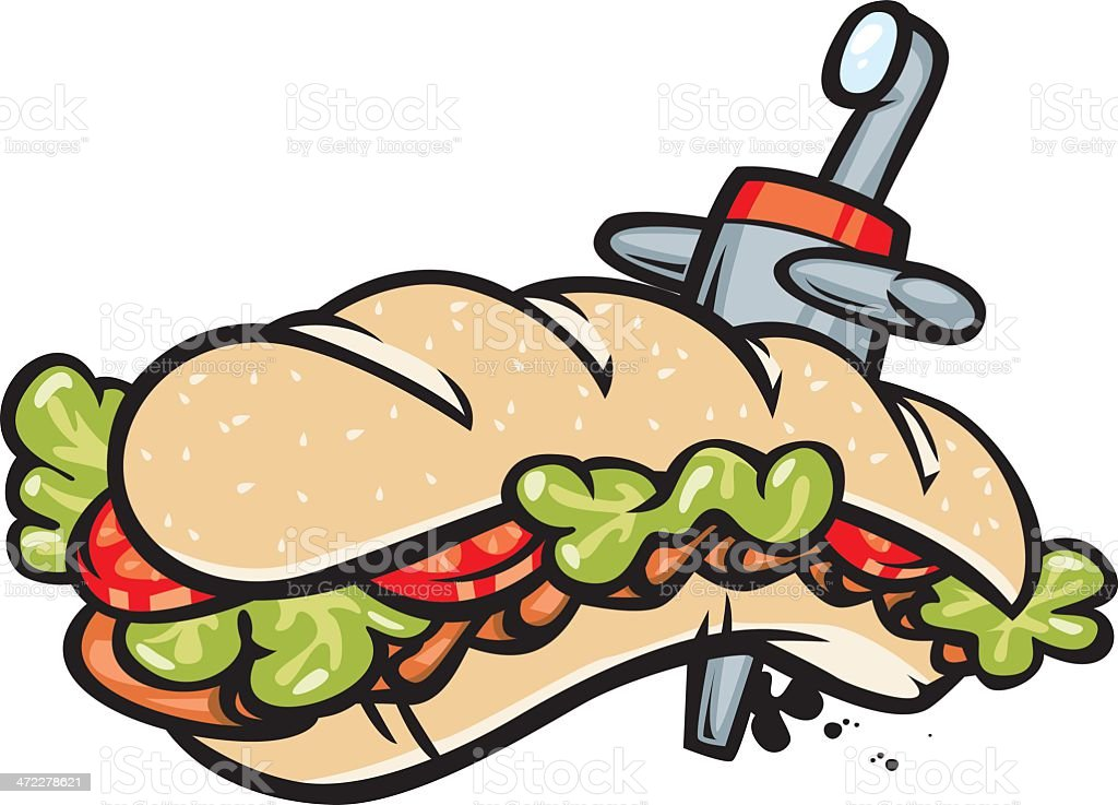 submarine sandwich royalty-free stock vector art
