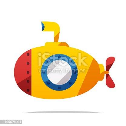 istock Submarine vector isolated illustration 1199025091