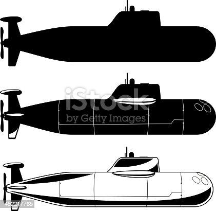 istock Submarine War Icons 452217765