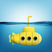 submarine with periscope underwater