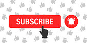Subscribe button. Button concept for subscribe on channel or blog. Vector illustration