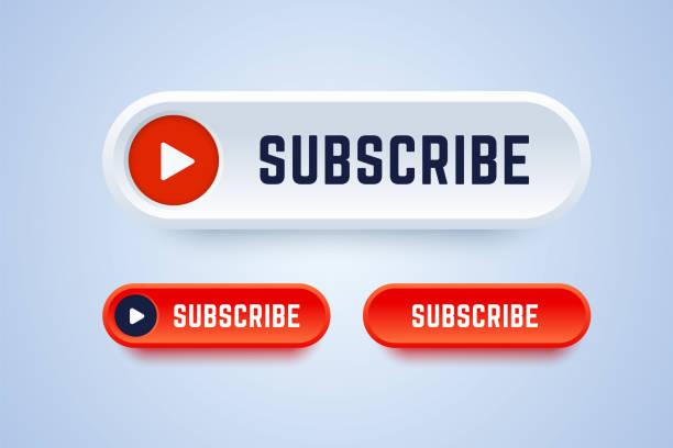 訂閱視頻服務、博客或其他內容的按鈕。 - 按鈕 幅插畫檔、美工圖案、卡通及圖標