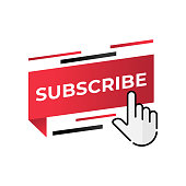 Subscribe button icon for social media. Subscribe icon button Vector illustration design template. Subscribe icon or button for video channel, blog, social media and background banner