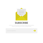 istock Subscribe Icon. Email and Newsletter Flat Design on White Background. 1277970610