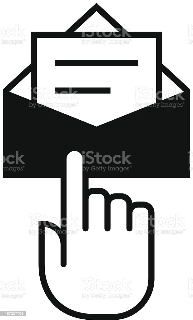 Subscribe newsletter icon royalty-free stock vector art