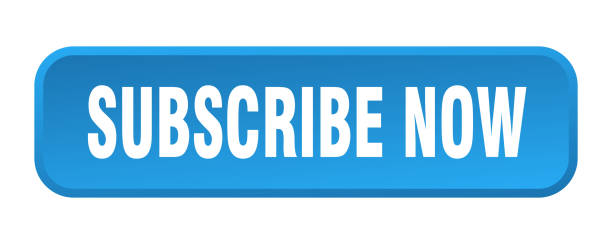 subscribe now button. subscribe now square 3d push button vector art illustration