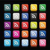 RSS subscribe rounded square icon web button