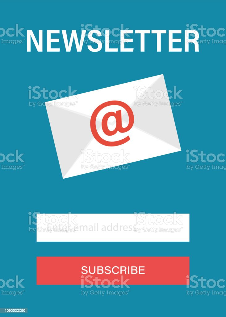 Subscribe To Newsletter Concept Subscribe Button Email