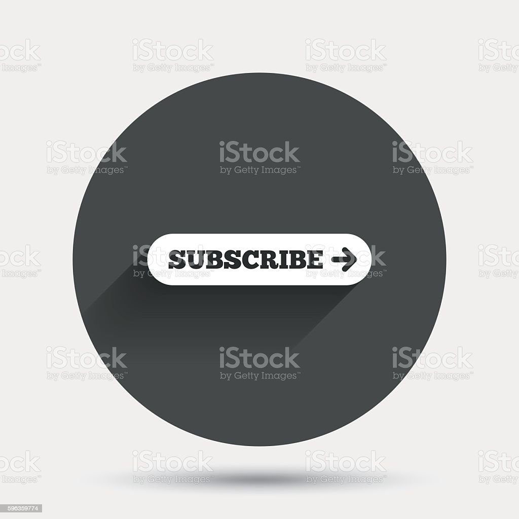 Subscribe with arrow sign icon. Membership symbol royalty-free subscribe with arrow sign icon membership symbol stock vector art & more images of badge