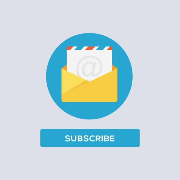 illustrazioni stock, clip art, cartoni animati e icone di tendenza di subscribe-bell-popup-3 copy - newsletter