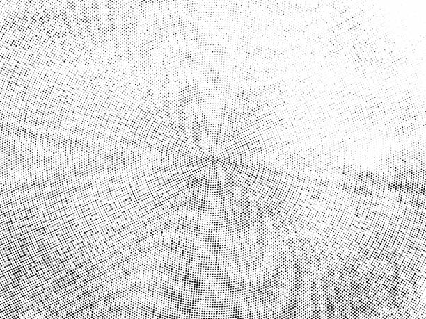 Subtle halftone dots vector texture overlay Subtle halftone vector texture overlay. Monochrome abstract splattered background. silk screen stock illustrations