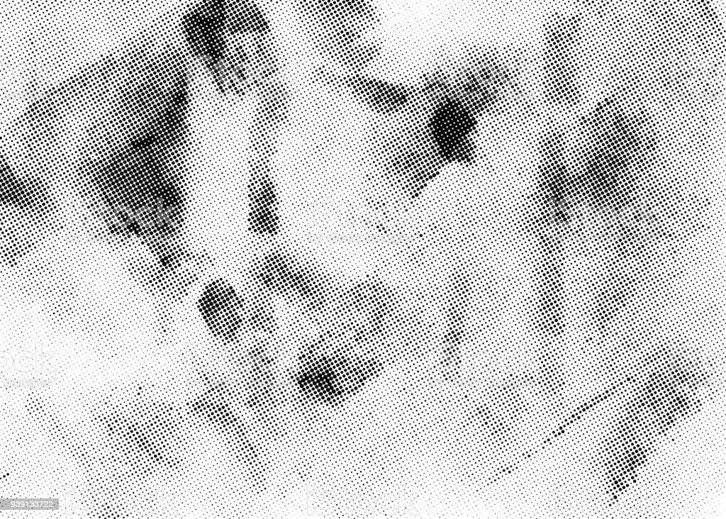 Meio-tom sutil sobreposição de textura de vetor. Monocromático abstrato esparramado. - ilustração de arte em vetor