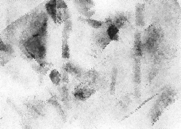 subtle halftone vector texture overlay. monochrome abstract splattered background. - skała stock illustrations