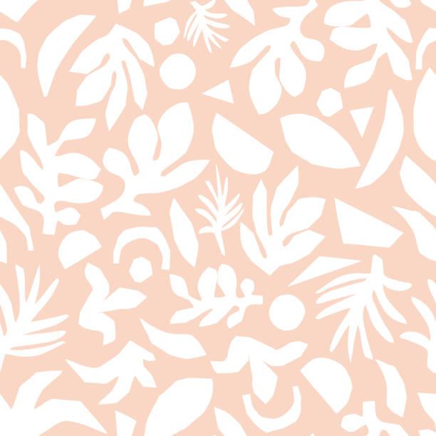 subtile rosa und weiß floral hintergrund vektor. feminine nahtlose oberflächenmuster-design - tapete stock-grafiken, -clipart, -cartoons und -symbole