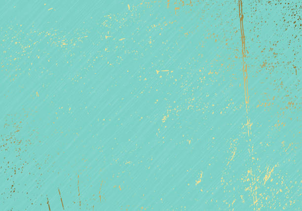 subtle turquoise vector texture overlay. abstract gold splattered glamour background. dotted grain golden grunge backdrop. festive christmas luxury backdrop - gold texture stock illustrations