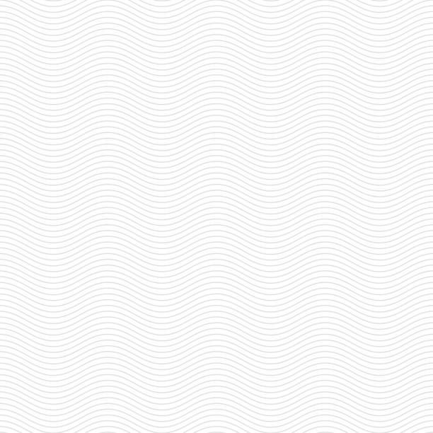 subtile Wellenlinie minimale weiße Muster Hintergrund – Vektorgrafik