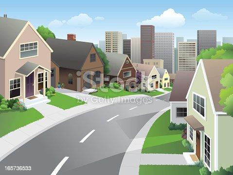 istock Suburb and City 165736533