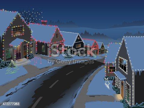 istock Suburban Christmas 472277083