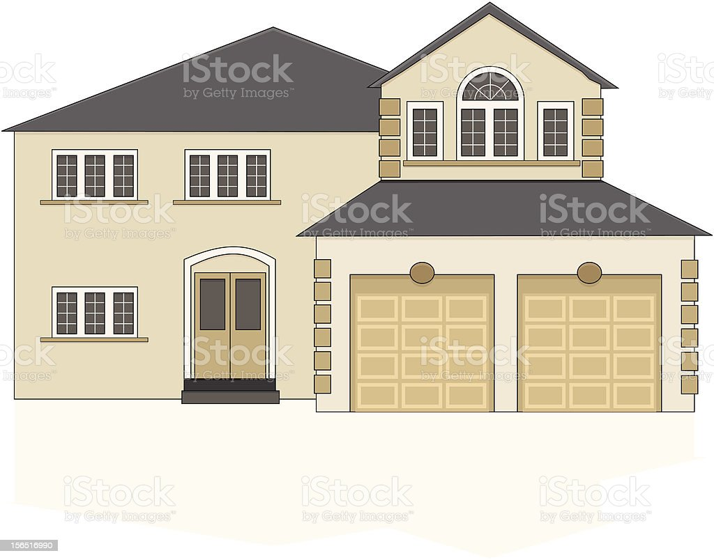 Suburban house royalty-free suburban house stock vector art & more images of detached house