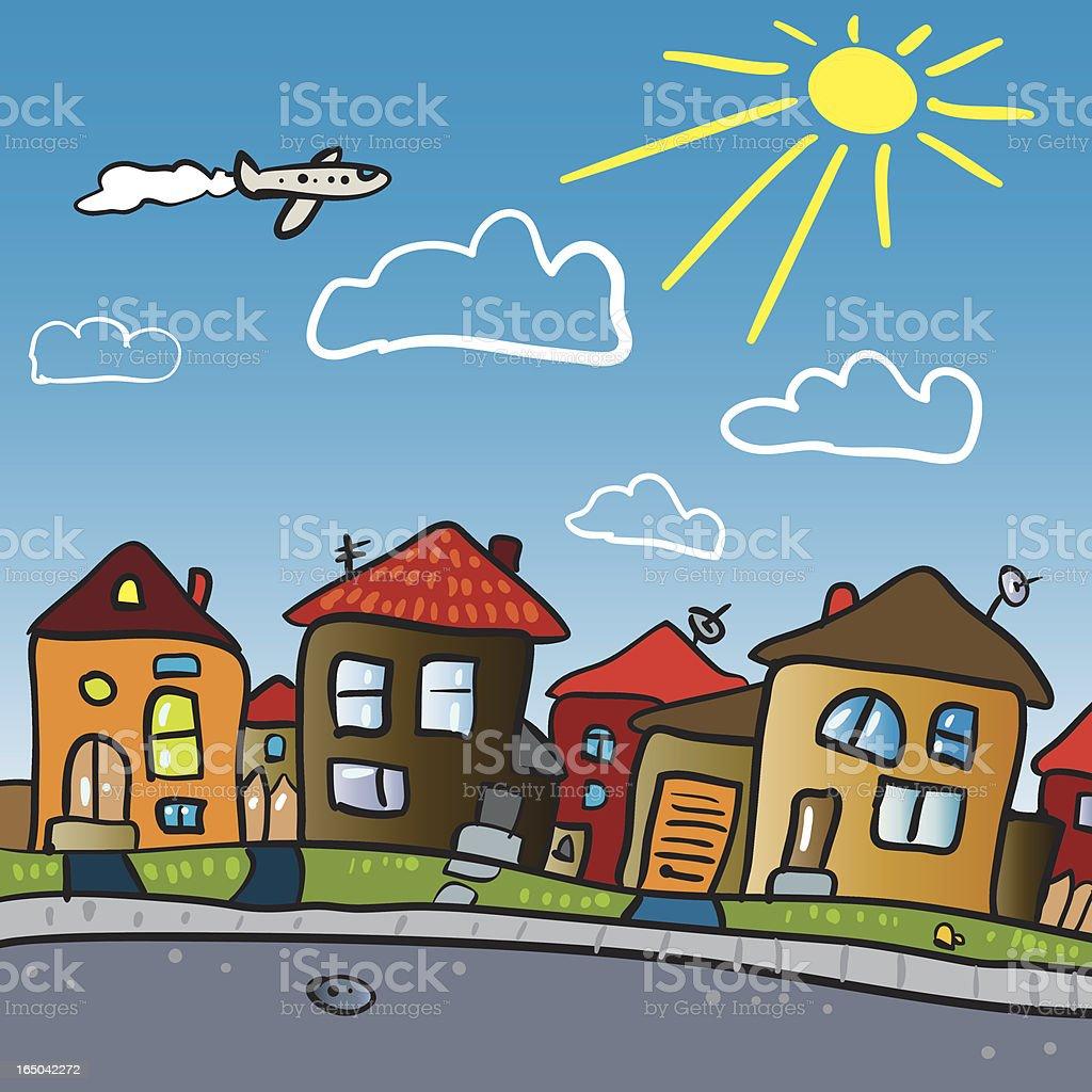 suburbs royalty-free stock vector art