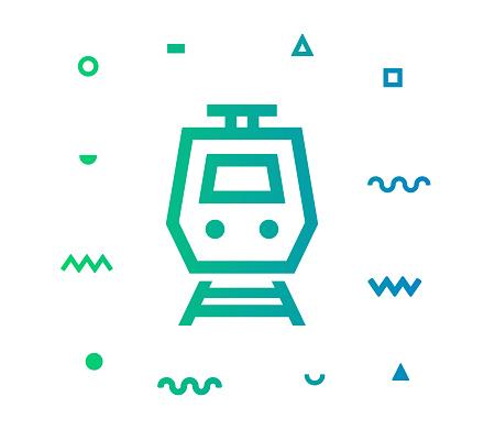 Subway Line Style Icon Design