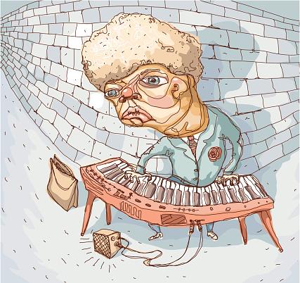 Subway Musician-vektorgrafik och fler bilder på Bag