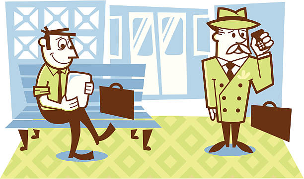 subway station - peter bajohr stock illustrations