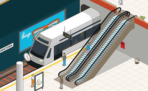 illustrazioni stock, clip art, cartoni animati e icone di tendenza di stazione della metropolitana  - subway