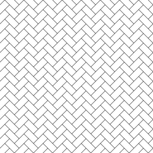 illustrazioni stock, clip art, cartoni animati e icone di tendenza di subway tile seamless pattern - zigzag