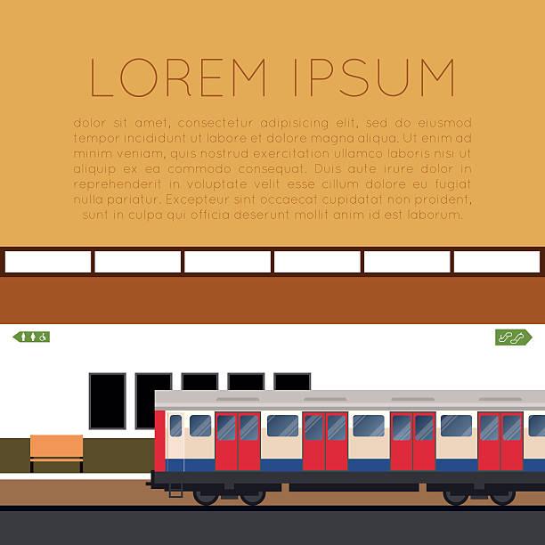 illustrazioni stock, clip art, cartoni animati e icone di tendenza di treno della metropolitana banner - subway