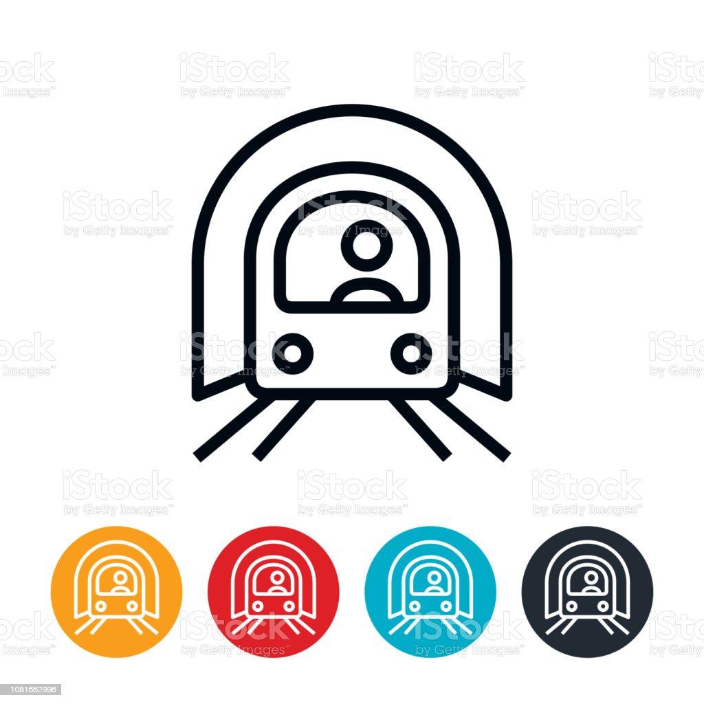 Subway Train Icon vector art illustration