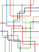 DLR and crossrail map design template